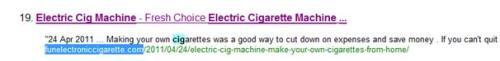 Electric Cig Machine Keyword Ranking